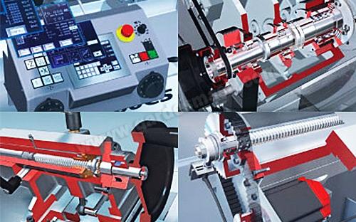 Вид рабочих механизмов токарного станка